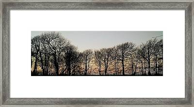 Winter Skyline Framed Print