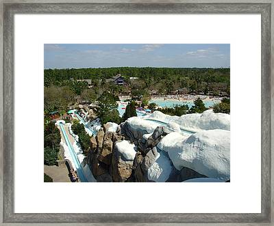 Framed Print featuring the photograph Winter Slides by David Nicholls