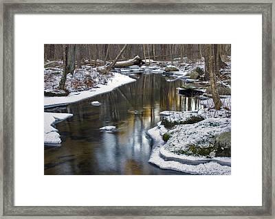 Winter Snake Meadow Brook Framed Print