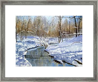 Winter Snow 1 Framed Print by Julia Rietz