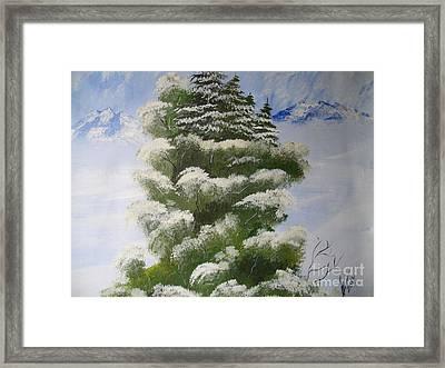 Winter Snow Framed Print by Collin A Clarke