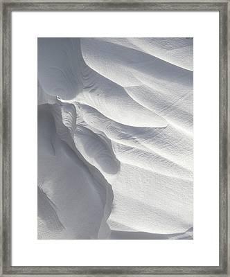 Winter Snow Drift Sculpture  Framed Print by Phil Perkins