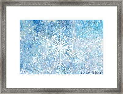 Winter Snow Flake Framed Print by Sacred  Muse