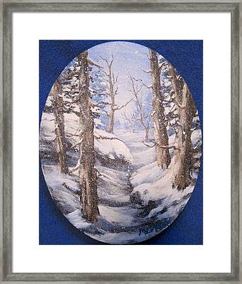 Framed Print featuring the painting Winter Snow by Megan Walsh