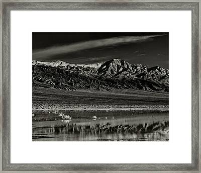 Winter Snow Panamint Range Inyo County Ca Framed Print