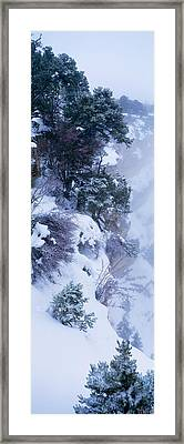 Winter Snow Storm Grand Canyon Rim Framed Print by Panoramic Images