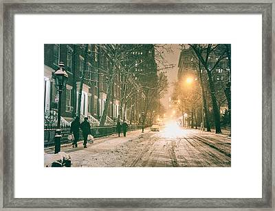 Winter - Snow - Washington Square - New York City Framed Print by Vivienne Gucwa