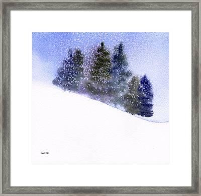 Winter Snowfall Framed Print by Anne Duke