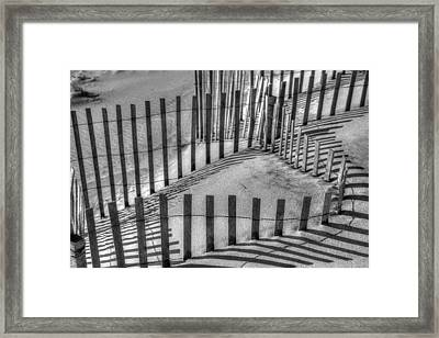 Winter Snowfence 2 Framed Print