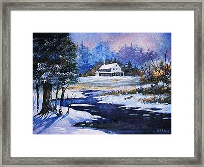 Framed Print featuring the painting Winter Solitude by Al Brown