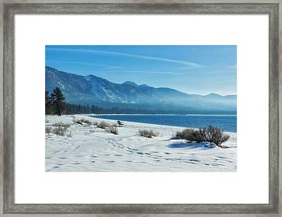 Winter Solitude Framed Print by Kim Hojnacki