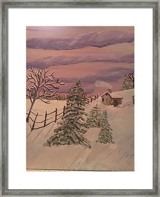 Winter Solitude Framed Print by Renee McKnight