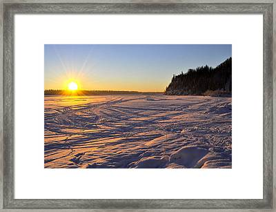 Winter Solstice Framed Print by Cathy Mahnke