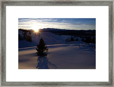 Winter Solstice Framed Print by Jeremy Rhoades