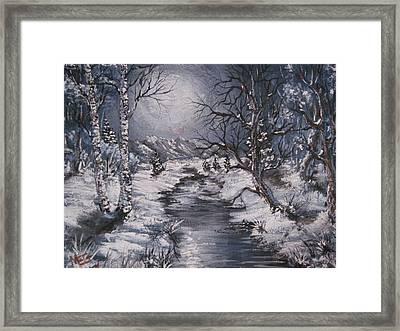 Winter Solstice Framed Print by Megan Walsh