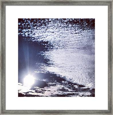 Framed Print featuring the photograph Winter Solstice Sky by Toni Martsoukos