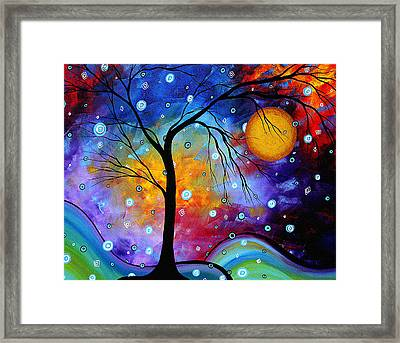 Winter Sparkle Original Madart Painting Framed Print