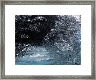 Winter Sparklers Framed Print by Alys Caviness-Gober