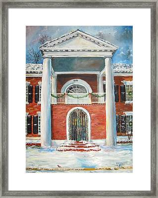 Winter Spirit In Dahlonega Framed Print