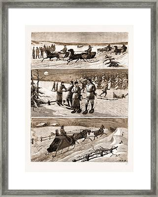 Winter Sports At Halifax Framed Print by Litz Collection