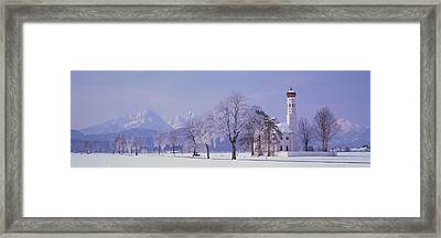 Winter St Coloman Church Schwangau Framed Print