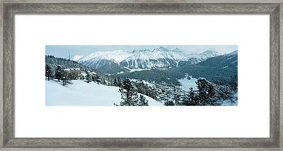 Winter, St Moritz, Switzerland Framed Print by Panoramic Images