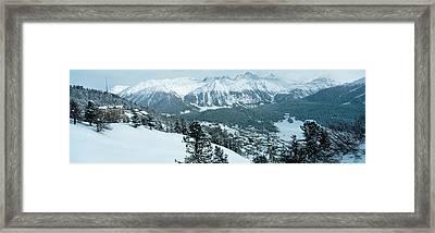 Winter, St Moritz, Switzerland Framed Print
