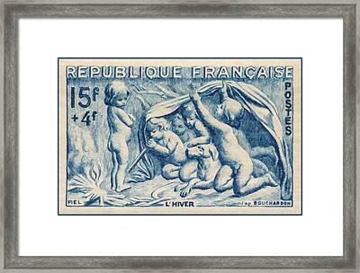 Winter Stamp Framed Print