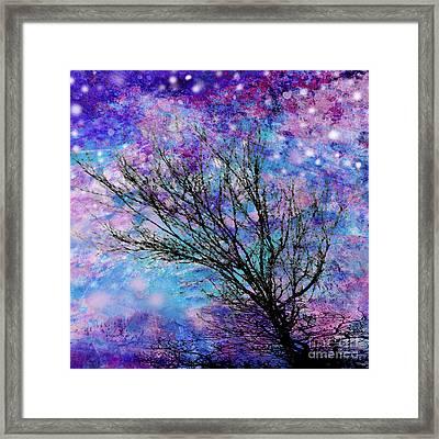 Winter Starry Night Square Framed Print