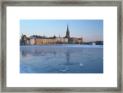 Winter Stockholm Sweden Framed Print by Panoramic Images