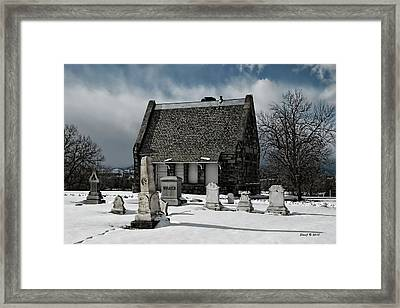 Framed Print featuring the photograph Winter Stone House by Stephen  Johnson