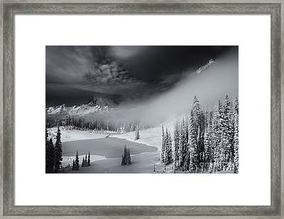 Winter Storm Clears Framed Print by Mike  Dawson