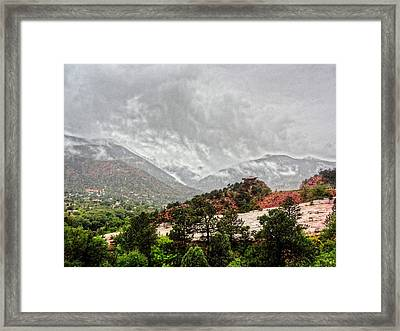 Framed Print featuring the photograph Winter Storm On A Summer Day by Lanita Williams