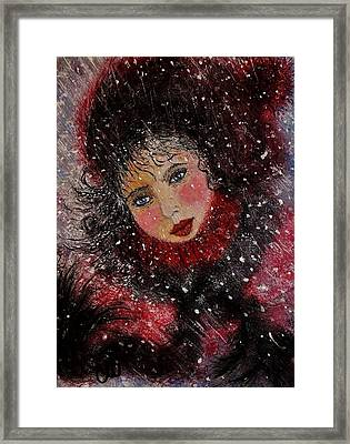 Framed Print featuring the painting Winter Story... by Cristina Mihailescu