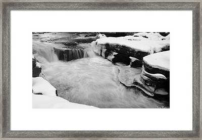 Framed Print featuring the photograph Winter Stream by Gary Wightman