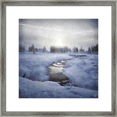 Winter Stream Framed Print by Gun Legler