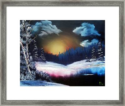 Winter Sun Rise Framed Print by Ryan Wells