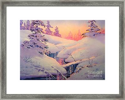 Winter Sun Framed Print by Teresa Ascone
