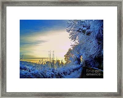 Winter Sunburst Framed Print