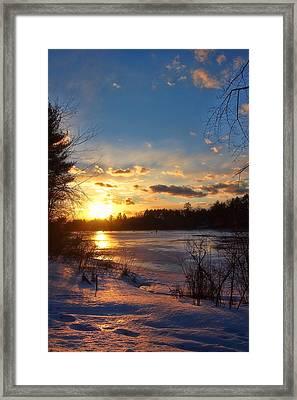 Winter Sundown Framed Print by Joann Vitali