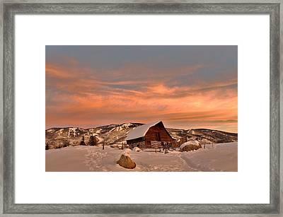 Winter Sundown Framed Print