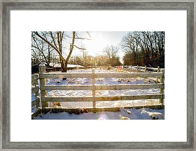 Winter Sunrise 4  Framed Print by Tim Fitzwater