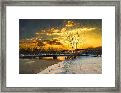 Winter Sunrise - Artistic Framed Print by Chris Bordeleau