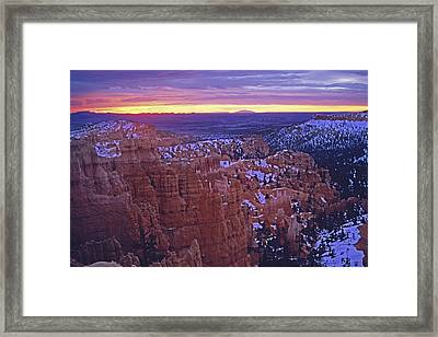 Winter Sunrise At Bryce Canyon Framed Print