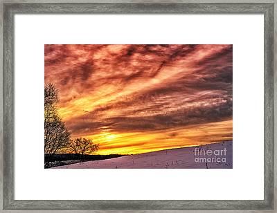 Winter Sunrise Drama Framed Print