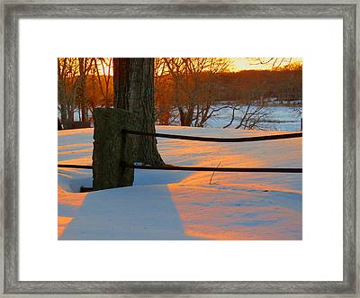 Winter Sunrise Glow Framed Print by Dianne Cowen