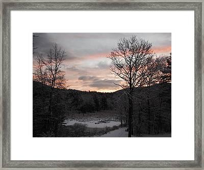 Winter Sunrise Framed Print by Mim White