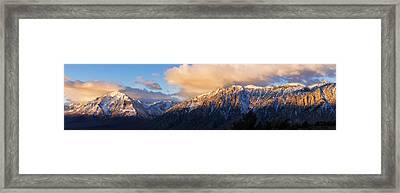 Winter Sunrise On Mount Tom Framed Print