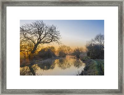 Framed Print featuring the photograph Winter Sunrise by Trevor Chriss