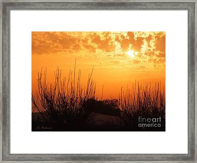 Winter Sunset 02 Framed Print by Arik Baltinester